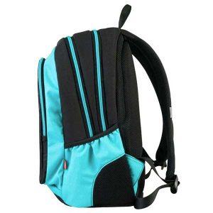 Ruksak školski Target 3 Zip Black Blue Cosmos