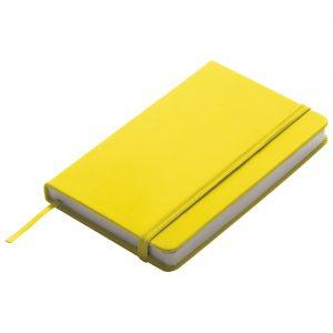 Notes 9x14cm čisti 96L s gumicom žuti