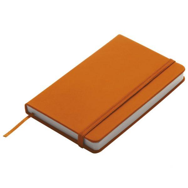 Notes 9x14cm čisti 96L s gumicom narančasti