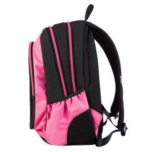 Ruksak školski Target 3 Zip Black Pink Pampero