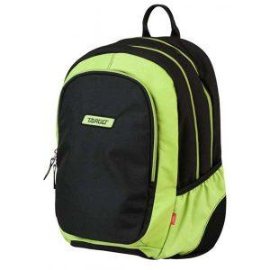 Ruksak školski Target 3 Zip Black Lime