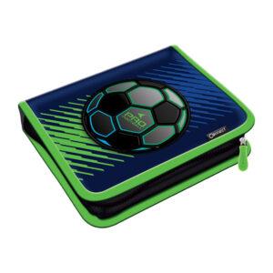 Pernica puna 1zip 2preklopa Pro Football 1A Connect plavo-fluo zelena