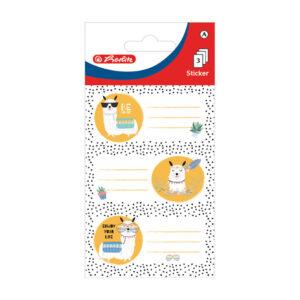 Etikete školske papir životinje Herlitz